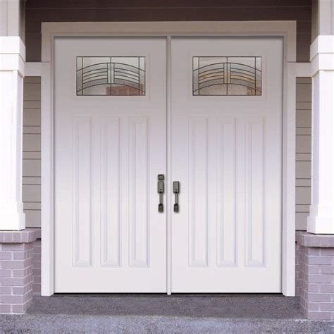 White Exterior Doors Exterior Decorating Ideas Using Rectangular White Pillars And Rectangular White