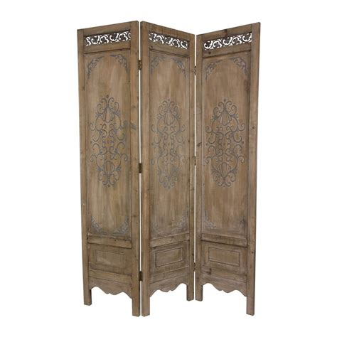 Shop Oriental Furniture Scrollwork 3 Panel Antique