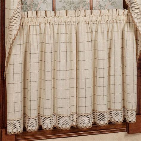 adirondack curtains sweet home collection adirondack cotton kitchen window
