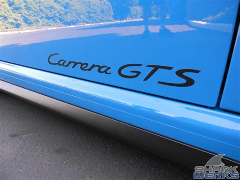 Porsche Aufkleber Gts by Gorgeous Pts Turquoise Blue Gts Sharkwerks