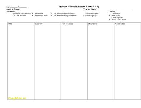 behaviour log template student behavior log template class room behaviour chart