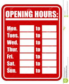 store hours sign template free opening hours sign eps royalty free stock photos image