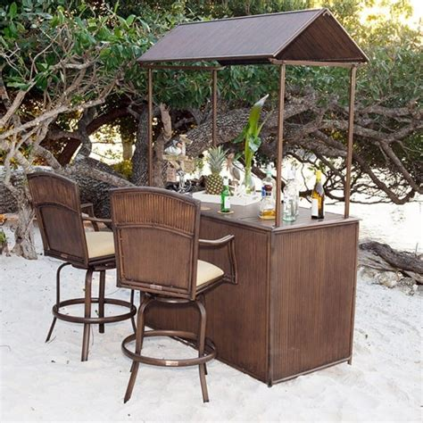 Backyard Tiki Bar Sets by Tiki Bar 3 Pc Barstool Set