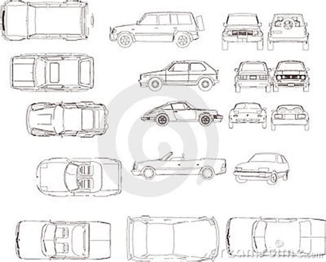 car plan view cars side and plan view stock vector image of auto