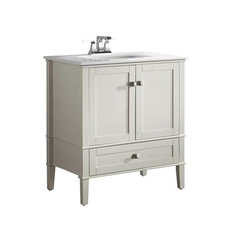 shop simpli home chelsea white 31 in undermount single