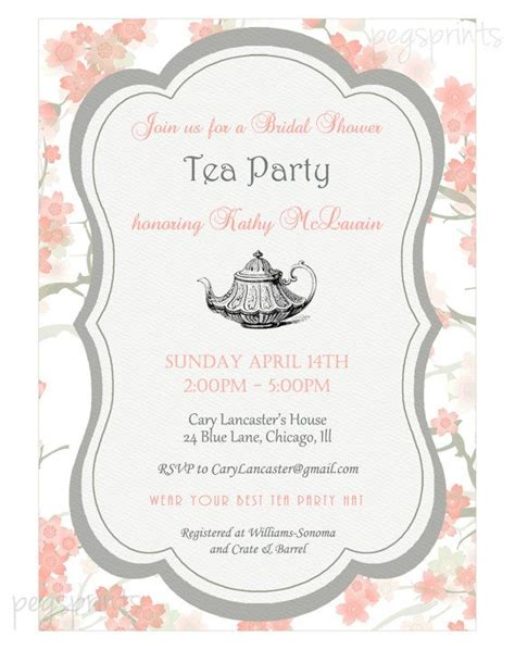 high tea invitation template bridal shower high tea invitation printable