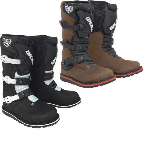 wulf motocross boots wulf trials cub boots off road kids children junior
