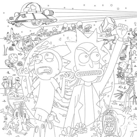 coloring pages rick and morty printable rick and morty coloring pages