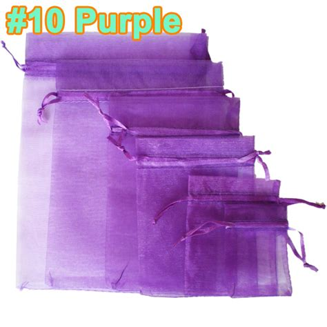 50pcs luxury organza gift bags wedding favour