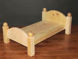 handmade wooden doll bed 20 inches