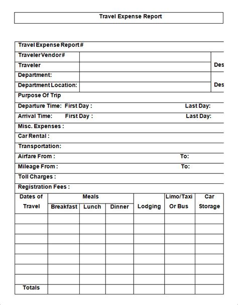 travel expense report template 11 travel expense report templates free word excel