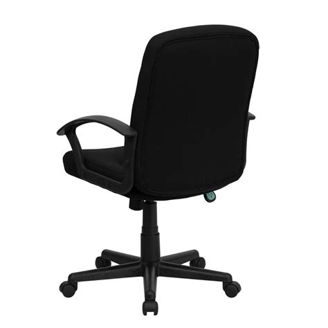 flash furniture mid back black fabric task computer