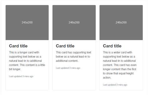 bootstrap layout cards bootstrap 4 alpha