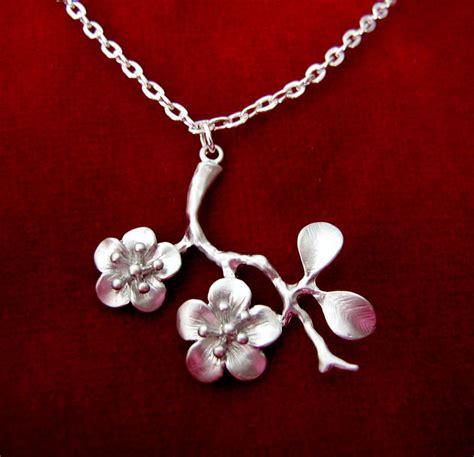 cherry blossom necklace felt