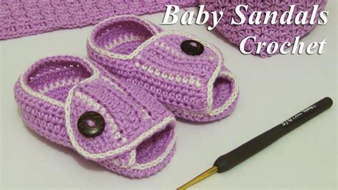 tutorial merajut sepatu baby crochet merajut sepatu sendal untuk bayi baby sandals