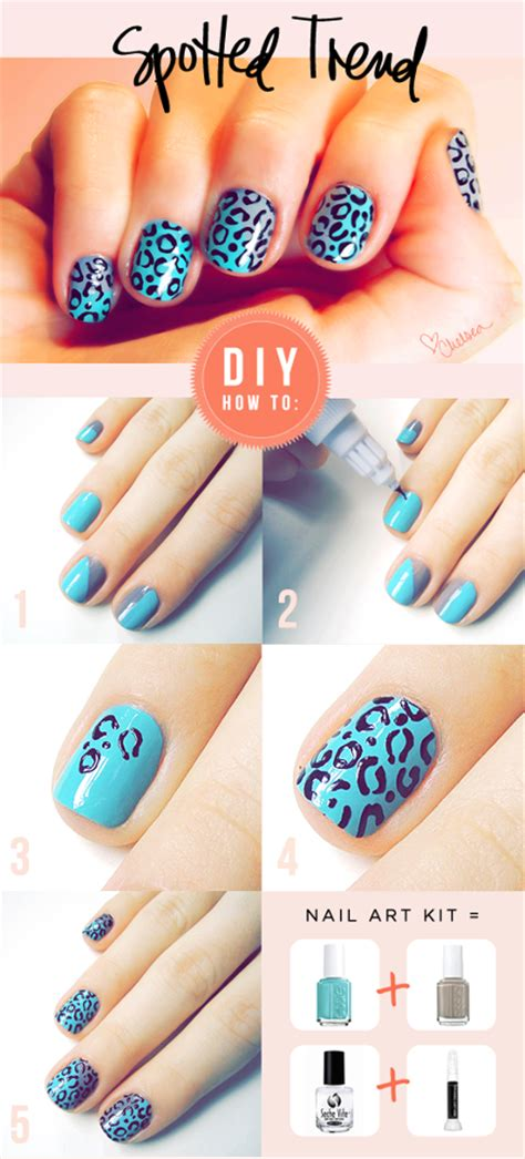 how to do nail spots step by step diy