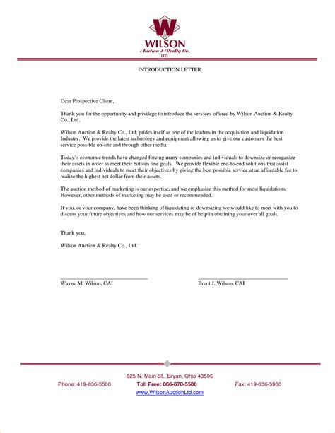 business letter format letter of introduction 28 images