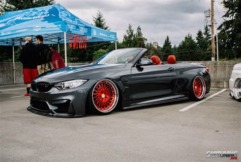 bmw m4 stanced stanced bmw m4 convertible f83
