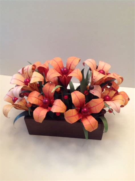 Origami Flower Arrangements - autumn origami paper flower arrangement