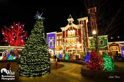 silver dollar city lights city of lights the station and town square of silver