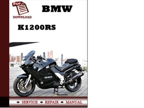 Bmw K1200rs Workshop Service Manual Repair Manual Download