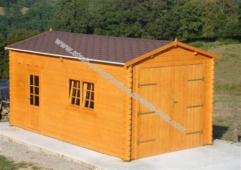 garage en bois pas cher stmb construction chalets bois