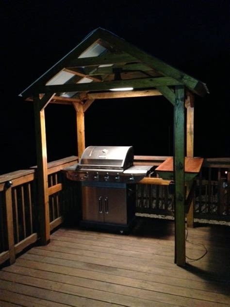 grill gazebo decks grill area  diy grill