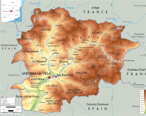Tiny Plains physical map of andorra ezilon maps