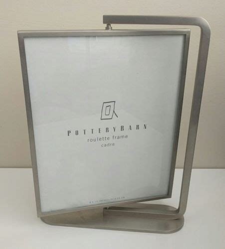 pottery barn sided glass picture frame
