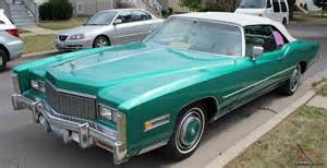 76 Cadillac Eldorado Convertible 1976 Cadillac Eldorado Convertible 76 Green With White