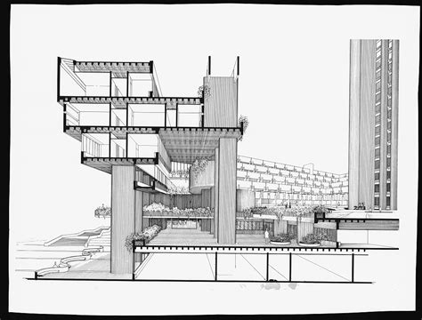 A Selection of Paul Rudolph?s Perspective Sections ? SOCKS