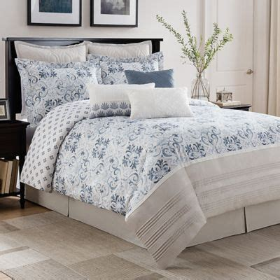 blue patterned bedspread buy blue and white comforter set from bed bath beyond