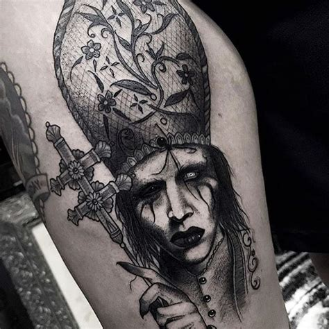 marilyn manson tattoos marilyn tattoos all things