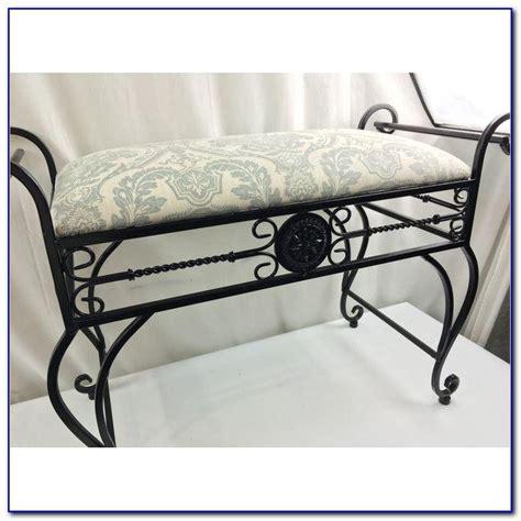 Iron Vanity Stool by Wrought Iron Vanity Stool Bench Home Design Ideas