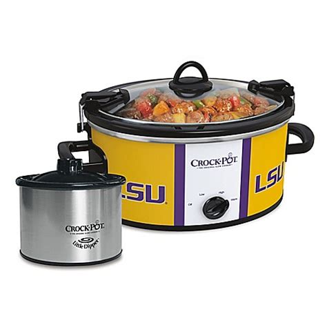 bed bath and beyond crock pot lsu crock pot 174 cook carry slow cooker with little