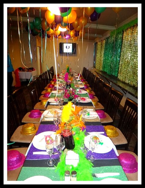 party themes mardi gras 30th birthday party mardi gras theme tables mardi gras
