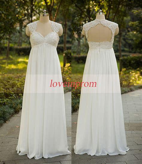 Wedding Dress Handmade - cap sleeve wedding dress white ivory wedding dress