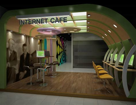 design cyber cafe internet cafe portfolio work liking the curved wall