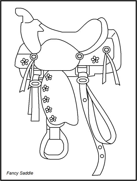 coloring pages of saddles rodeo coloring pages for coloring home