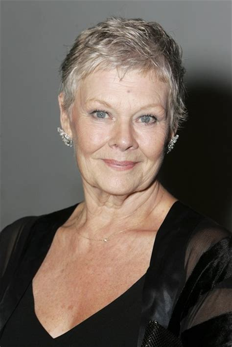 judi dench haircut back of head judi dench hairstyle front and back of head photo short