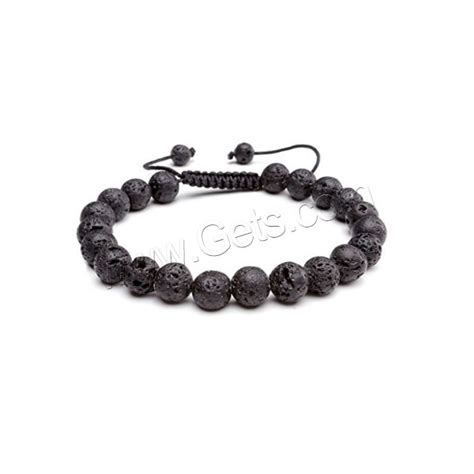 Sale Gelang Lava Unisex 8mm lava woven bracelets with cord unisex 8mm gets