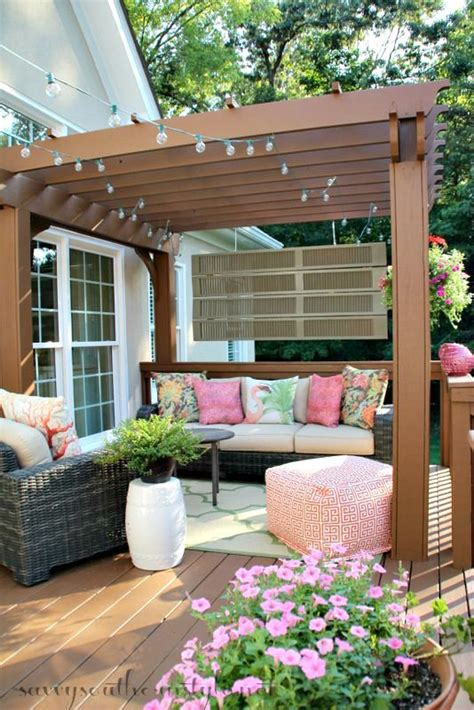 beautiful outdoor patio outdoor living pinterest how to transform an old worn deck into a beautiful outdoor