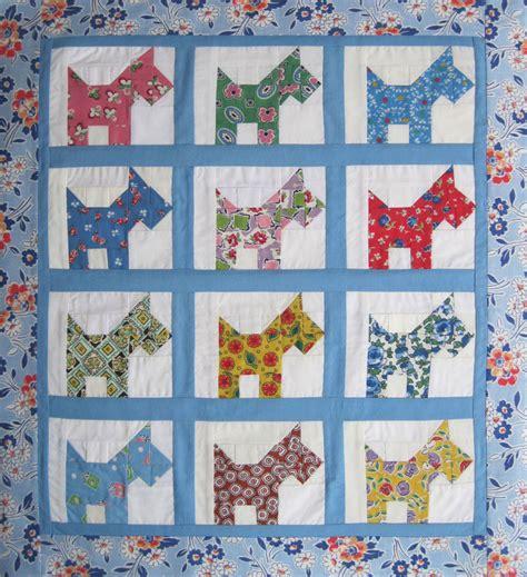 Scottie Quilt Pattern by Pieced Scottie Quilt Top 1940s Prints Q Is For Quilter
