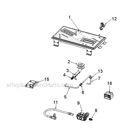 replacement parts for gas fireplace monessen stldvns ps parts list and diagram