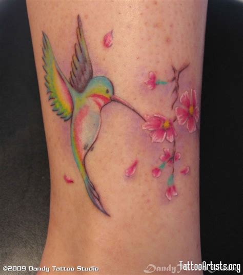 tattoo designs hummingbirds and flowers colorful hummingbird and design tattoomagz