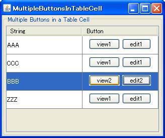 tutorial java button java how to create a jtable with different buttons in