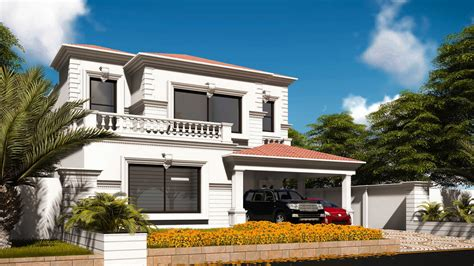 architectural design of 1 kanal house 1 kanal colonial design house at phase 6 dha by core