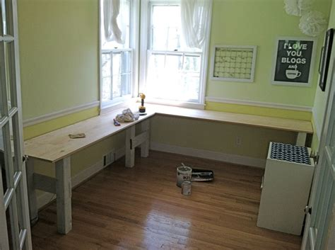 Diy Desk L Diy L Shaped Built In Desk Crafty Crafts And Diy Pinterest