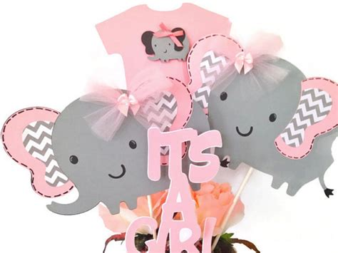 Pink And Gray Elephant Baby Shower Decorations by Pink And Gray Elephant Baby Shower Centerpiece Pink And Gray