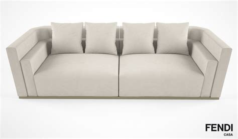 fendi sofa price fendi casa borromini sofa 3d model max obj fbx cgtrader